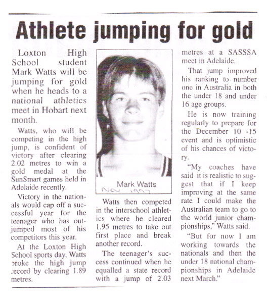 Mark Watts: Athlete jumping for gold